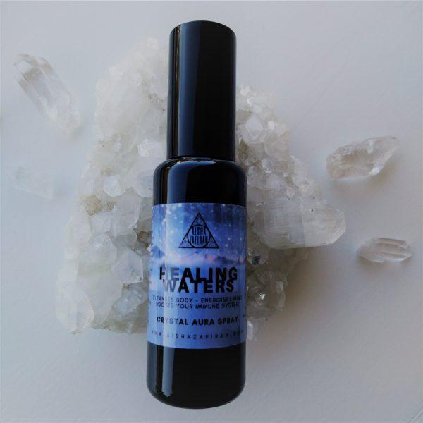 Healing Waters Aura Spray on crystal